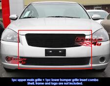 Fits Nissan Altima Black Billet Grill Insert Combo 05-06