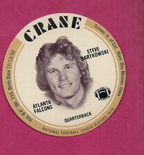 RARE 1976 CRANE POTATO CHIPS STEVE BARTKOWSKI FOOTBALL DISK MINT CARD (INV#0547)