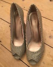 Marks and Spencer Collection Python Coffee & Cream Peep Shoe Uk 5.5 BRAND NEW