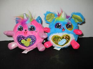 2 4 inch Rainbowcorns pink & blue both really cute