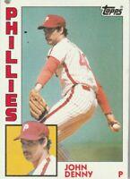 FREE SHIPPING-MINT-1984 Topps #17 John Denny Phillies PLUS BONUS CARDS