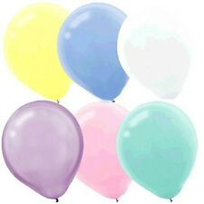12 PASTEL ASSORTED LATEX BALLOONS PARTY DECORATION BABY SHOWER BIRTHDAY EASTER