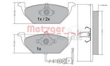 Bremsbelagsatz, Scheibenbremse METZGER 1170002 vorne für AUDI SEAT SKODA VW
