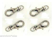 100 Small SWIVEL CLIPS for KEY RING 23mm x 9mm ~Plain Silver ~ Lobster Clasp end
