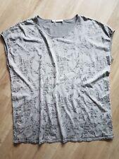 MONARI - Shirt -  Gr. 46 - Kurzarm - grau mit Sternen