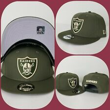 New Era NFL Olive Green Oakland Raiders Shield Logo 9Fifty Snapback Hat