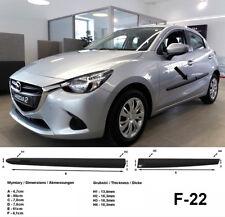 Seitenschutzleisten schwarz für Mazda 2 III Schrägheck 3.Gen. Typ DJ ab 11.2014-