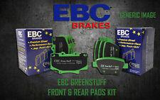 NEW EBC GREENSTUFF FRONT AND REAR BRAKE PADS KIT PERFORMANCE PADS PADKIT1632