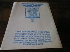 THE DOOBIE BROTHERS - Publicité de magazine / Advert !!! TOULOUSE STREET !!!!!!!