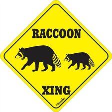 Raccoon Xing Sign