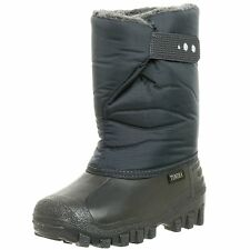 BOYS WINTERSNOW-BOOTS-NAVY GREY-INSULATED-WATERPROOF-NEW TODDLER SIZE-5