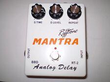 RIFFTONE MANTA  ANALOG DELAY BBD CHIP  SET 600 ms TRUE BYPASS  BRAND NEW!