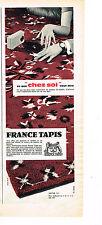 PUBLICITE ADVERTISING 014   1960   FRANCE TAPIS