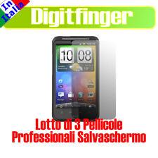 3 PEZZI PELLICOLA PROFESSIONALE LCD PER HTC DESIRE HD
