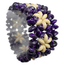 M1075 fashion flower wooden bead chain stretch bracelet jewelry