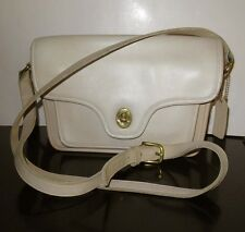 Lovely Vtg COACH USA Kent Bag Crossbody Messenger Shoulder Purse Satchel Cream