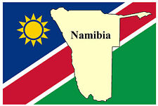 NAMIBIA, SOUTHERN AFRICA MAP & FLAG- SOUVENIR NOVELTY FRIDGE MAGNET - NEW - GIFT