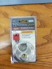 Packrite Pt Platinum Series By Defense 2 2 34 Stainless Steel Disc Padlock