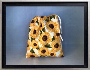 Gymnastics Leotard Grip Bags / Lg Yellow Sunflowers Gymnast Birthday Goody Bag