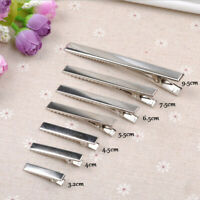 20PCS Metal Modish Barrette Alligator Hair Clips Hairpins DIY Prong Bows Tool