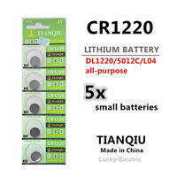 5pcs CR1220 Battery (5012LC/SB-T13/L04) 3v Lithium Button Cell in Melb Stock
