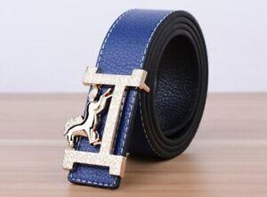 New Men Belts Luxury Brand Metal Buckle Belt PU Leather High 2021 Women Genuine