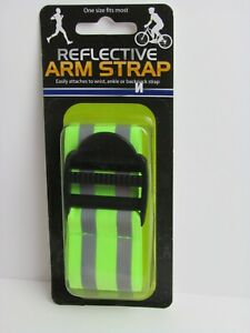 Reflective safety arm,ankle,backpack,bike,jogging,running,bicycling strap 1 pc.