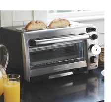 Hamilton Beach 2-in-1 Countertop Oven and Long Slot Toaster Stainless Steel New