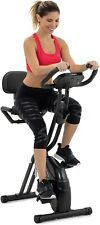 Lanos Folding Exercise Bike with Adjustable Magnetic Resistance