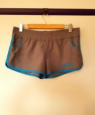 Ghanda womens Size 12 grey blue embroidered short board shorts