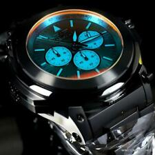Invicta Reserve Transatlantic Tinted Crystal Black Steel 54mm Chrono Watch New