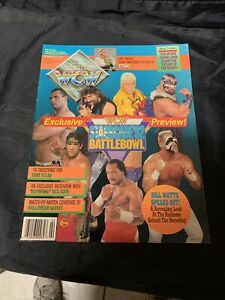 WCW Magazine February 1993 Starrcade Cover Sting Poster includes insert WWF New