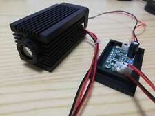 Fat beam 200mw 532nm green laser module with focal glass lens Parallel beam TTL