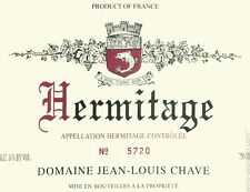 1 BOTTLES HERMITAGE ROUGE 2007 CHAVE JEAN LOUIS