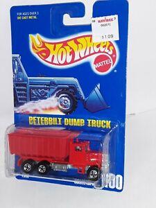 H.W.1991 ( Peterbilt Dump Truck ) # 100 , Red , 5 Spoke ,Mint on Card