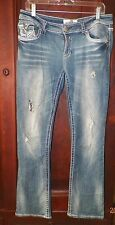 Womens 10 Hydraulic Premium Crafted Gramercy Slim Boot Stretch Distressed Jeans