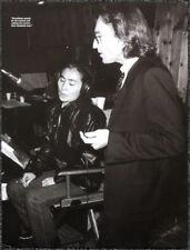 THE BEATLES POSTER PAGE . 1980 JOHN LENNON & YOKO RECORDING DOUBLE FANTASY . O13