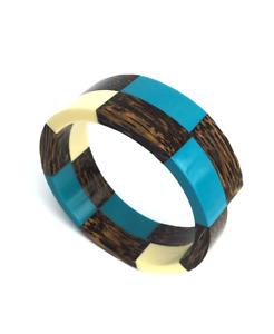 Palm Wood & Resin Bangle / Wooden Bracelet / Wooden Jewellery / Wood Bangle