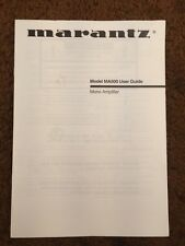 Marantz MA500 Mono Amplifier Original Owners Manual 7 Pages