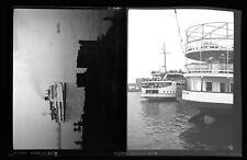 "2x Steamship Ferry ""Provincetown"" Harbor BOSTON MA Photo Negatives 25"