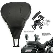 Detachable Adjustable Rider Driver Backrest Pad Fit For Harley Touring FLHT FLHX