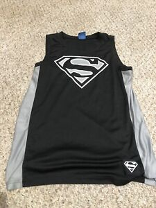 Superman Basketball Jersey Size Small Black White And Gray