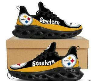 Pittsburgh Steelers Sneakers Shoes Men's Mesh Trail Running Training Shoes