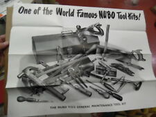 c.1950 Gerald Stains Ltd NUBO TOOL KITS Catalog Poster Vintage Original British