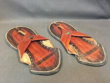 Ancienne paire de sandales de décoration vintage paduka yoga zen