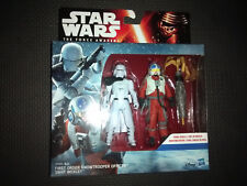 """Star Wars First Order Snowtrooper Officer & Snap Wexley Figures 3.75"""""""