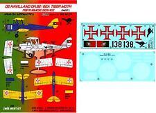 KORA Decals 1/48 DE HAVILLAND D.H.82 TIGER MOTH Portuguese Air Force
