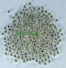 8/0 Round TOHO Japanese Glass Seed Beads #21-Silver-Lined Crystal 15g