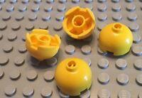 LEGO / 4 Yellow Parts / 2x2 Dome Final Brick / Round / 4 Pieces / Top / Rocket