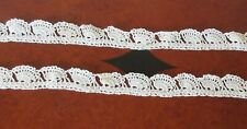 """Vintage Edwardian Hand Crocheted Shell Lace - 2 pieces 38"""" Each"""